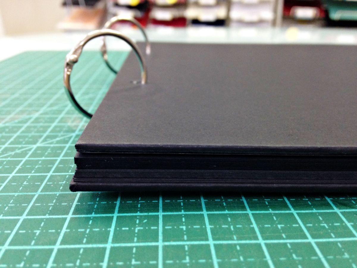 Álbum Papel de papel A4 - PRETO