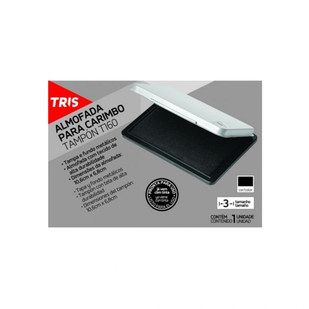 Almofada Tris P/ Carimbo - T160