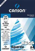 Bloco Canson Aquarela 300gm - A4