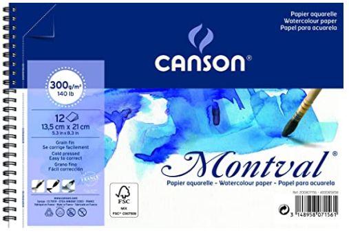 Bloco Canson Montval 300g A5 - Espiral