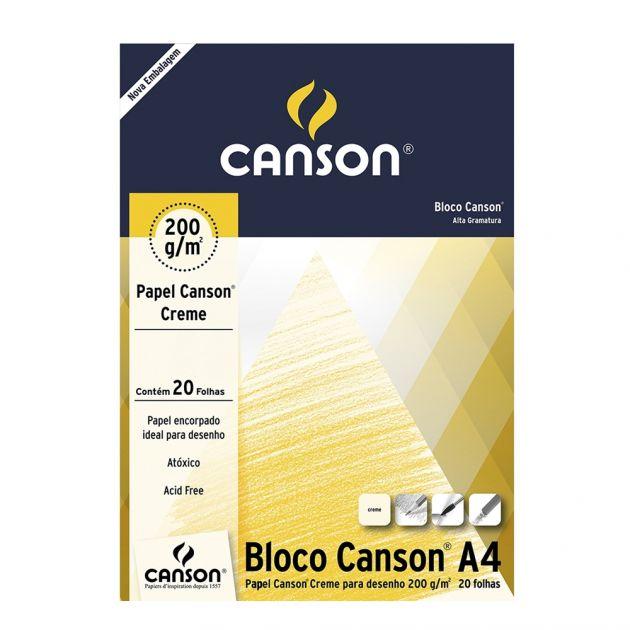 Bloco Canson Desenho 200gm Creme - A4
