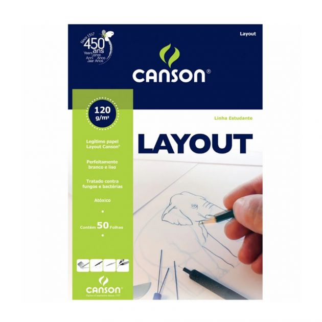 Bloco Canson Layout 120gm Branco - A4