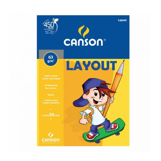 Bloco Canson Layout 63gm - A3
