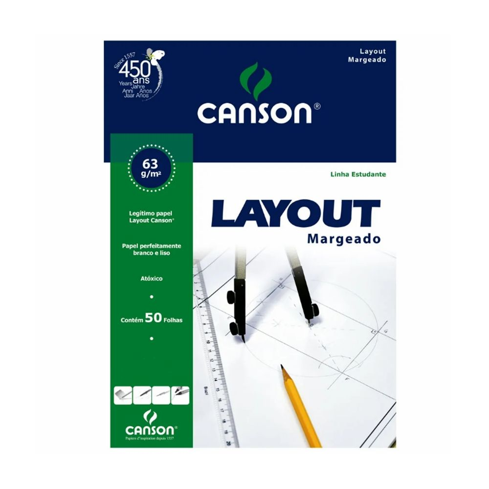 Bloco Canson Layout 63gm - A4+