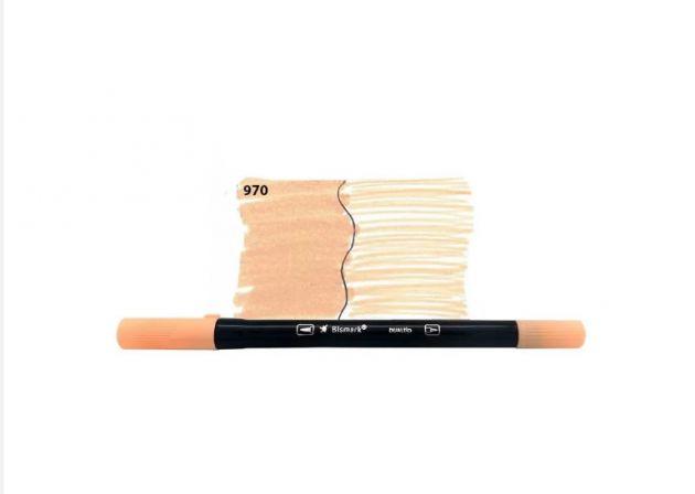 Brush Pen Dual Bismark - 970