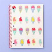 Caderno / Bloco de Notas - Target Ice cream