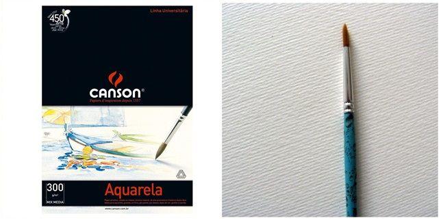 Papel Canson Aquarela Avulso - A4 300gm
