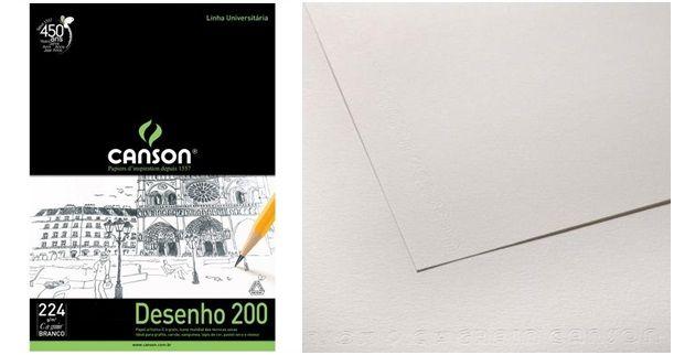 Papel Canson Desenho Avulso - A4 224gm - Branco