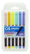 Kit Brush Pen Cis - Tons Pastel C/ 6 cores