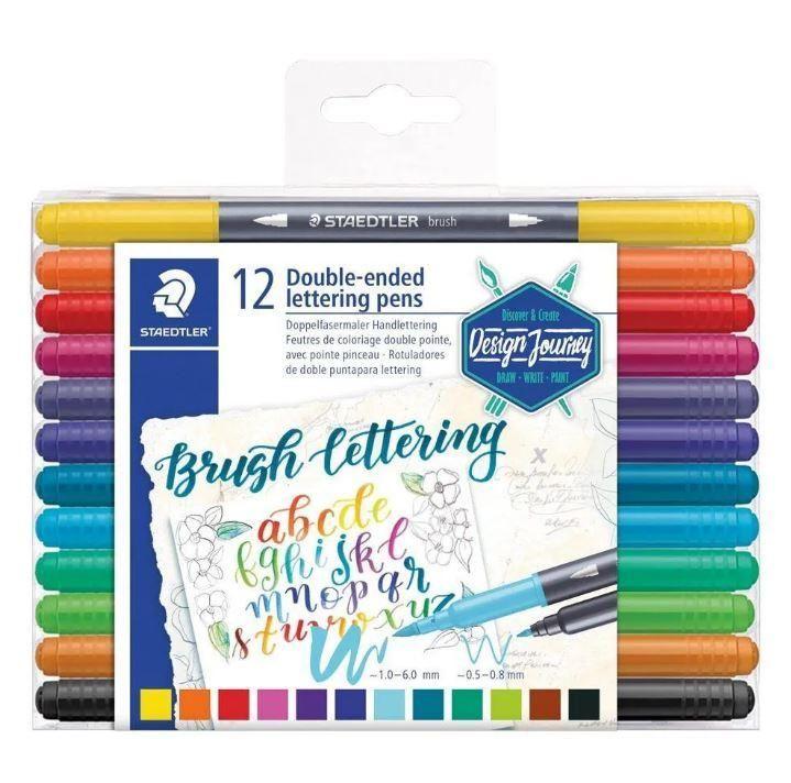 Kit Brush pen Staedtler - 12 Cores