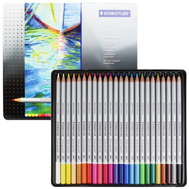 Lápis Aquarelável Staedtler - Karat 24 cores