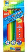 Lápis de cor Aquareláveis Tris 12 Cores