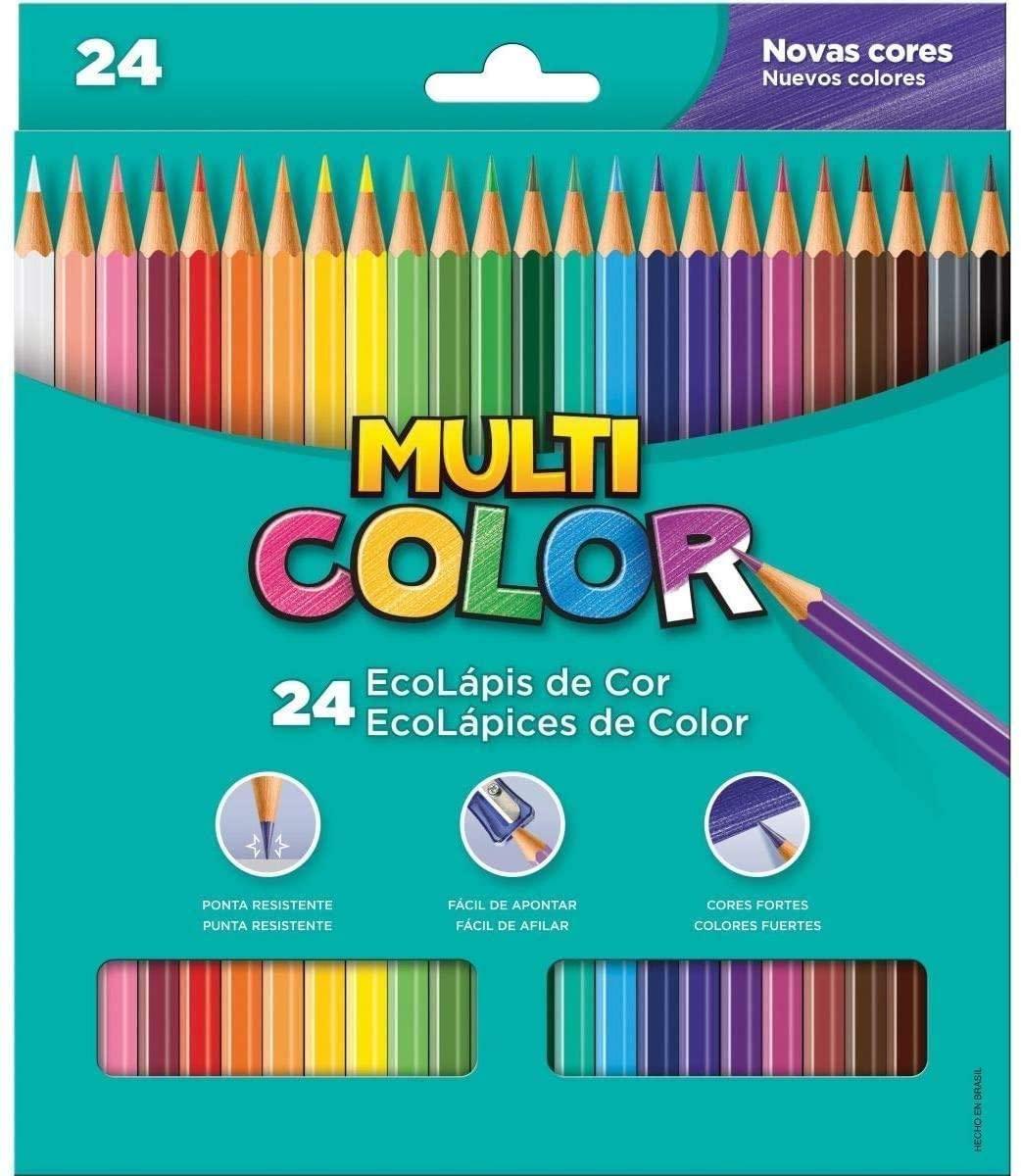 Lápis de cor Multi Color - 24 cores