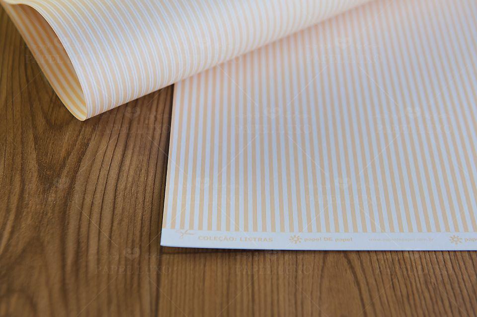 Papel Scrap Listra Marfim
