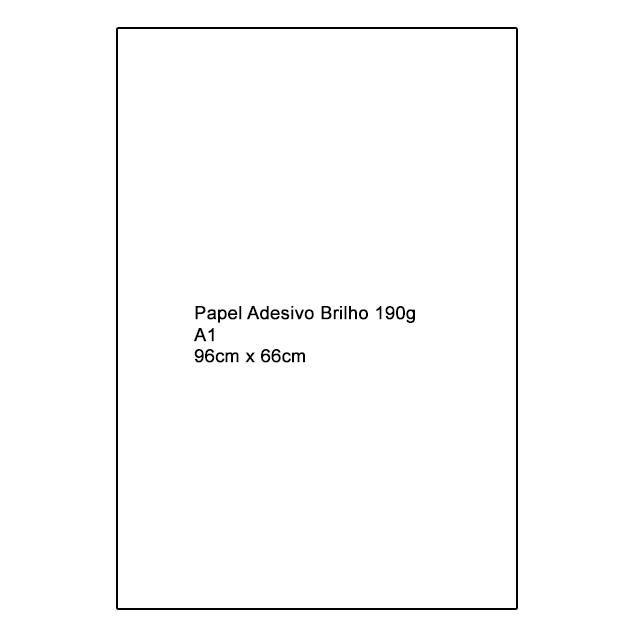 Papel Adesivo Brilho 190g A1
