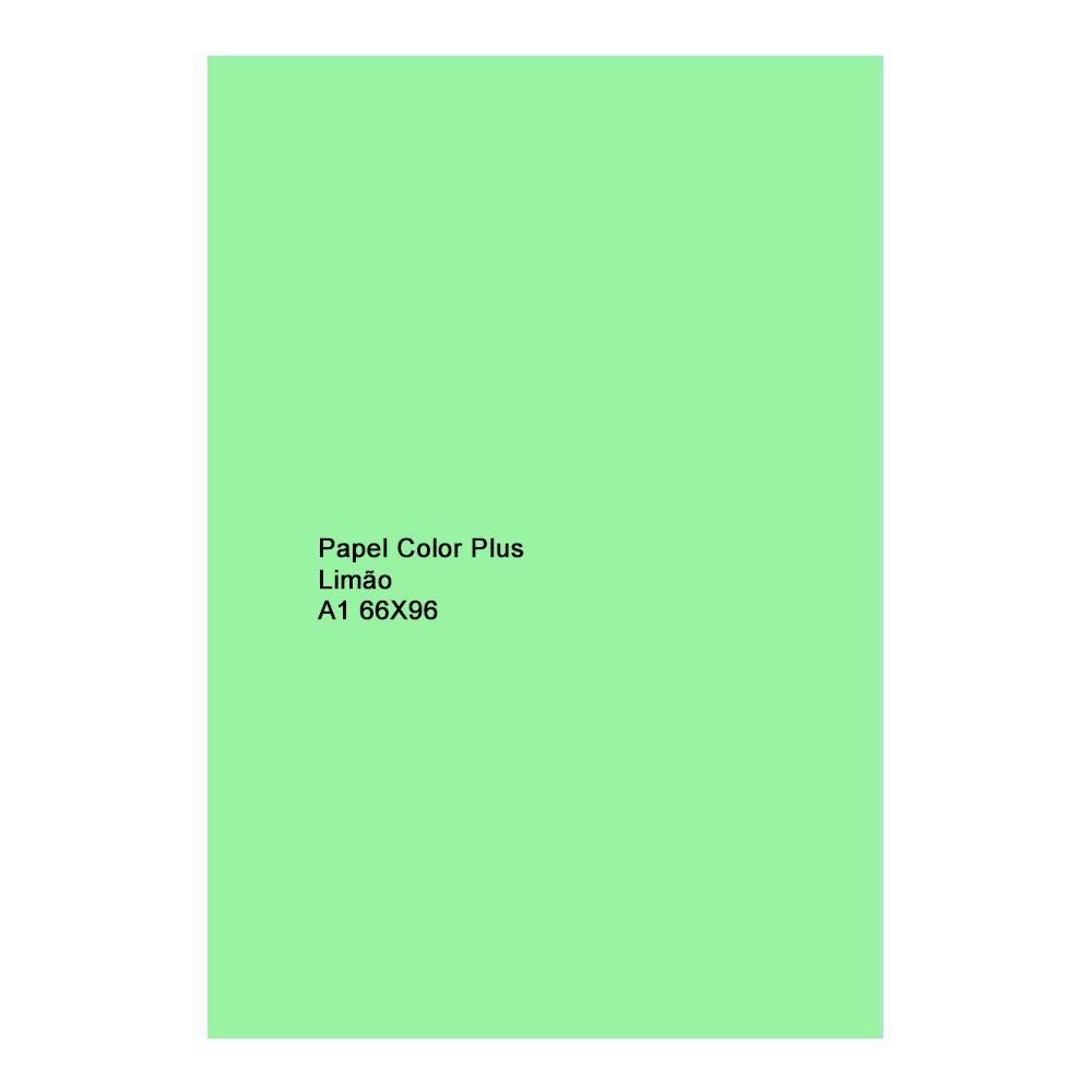 Papel Color Plus Limão 180g A1