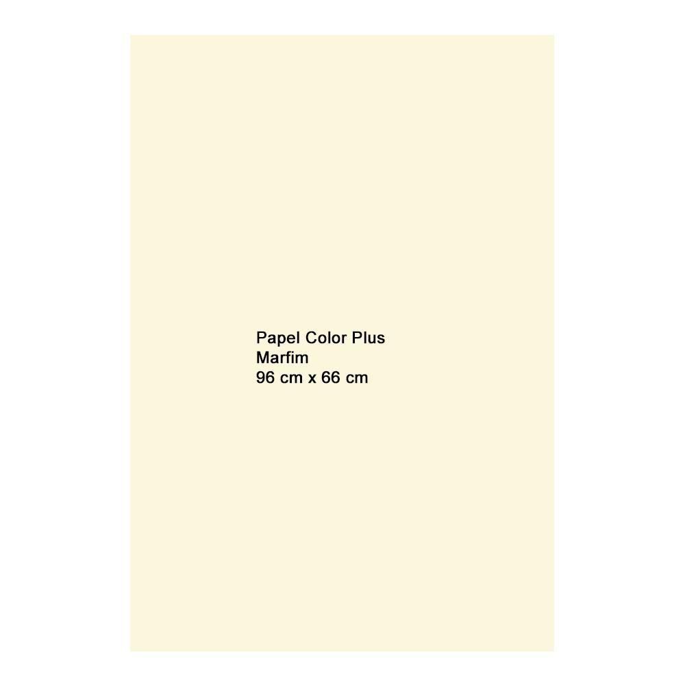 Papel Color Plus Marfim 180g A1