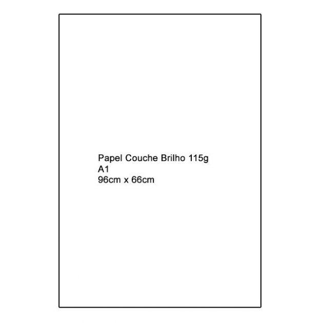 Papel Couche Brilho 115g A1