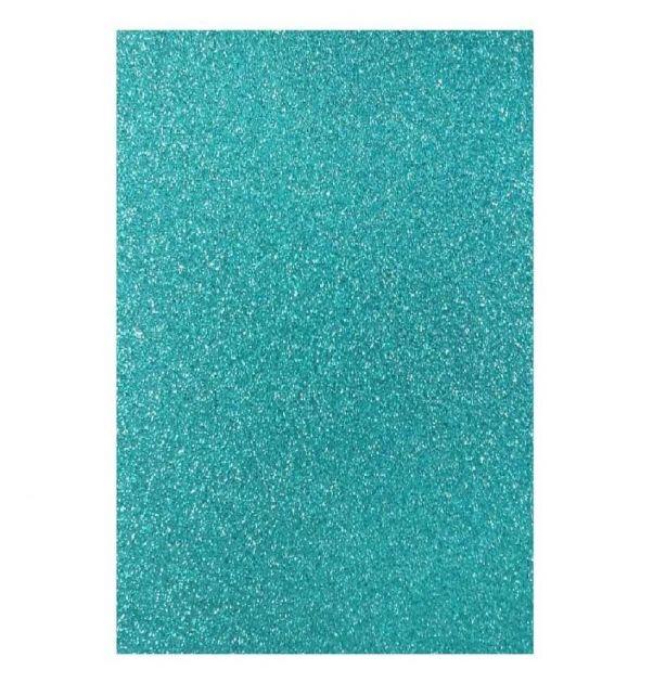 Papel Glitter Azul A4