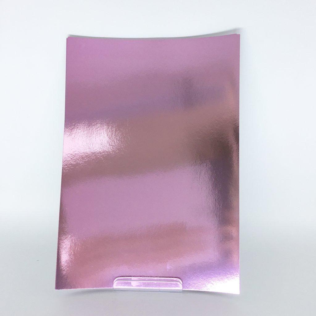 Papel Metallik Laminado - Rosa 180g