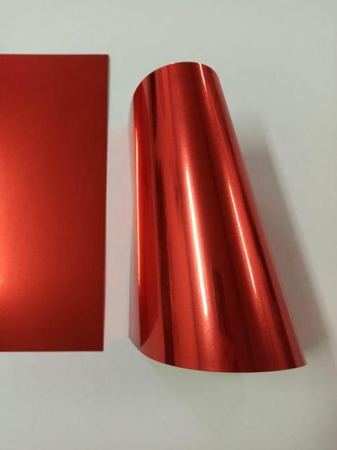 Papel Metallik Laminado - Vermelho 180g