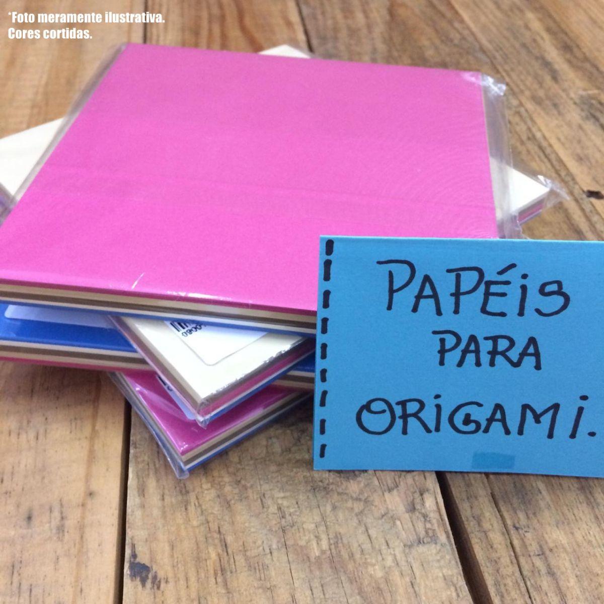Papel Origami - 100uni Cores Sortidas