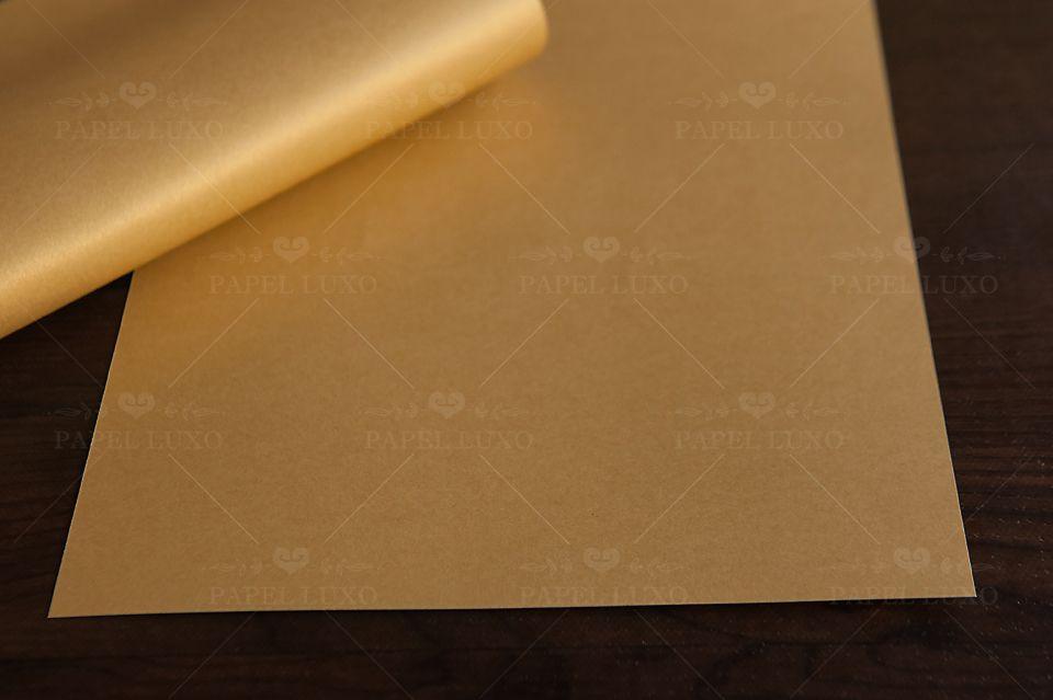 Papel Perolizado Ouro Nobre A4 180gm - Unidade