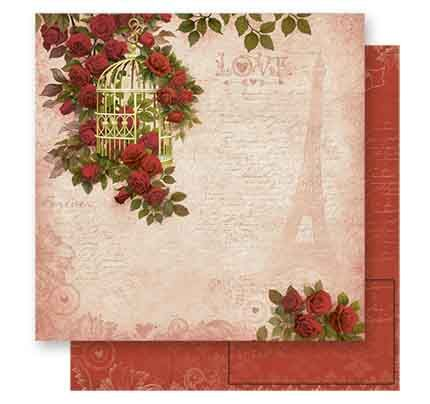 Papel de Scrap Litoarte - SD-542