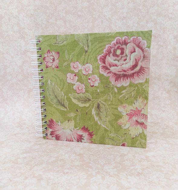 Álbum Papel de Papel Sunset - Floral Verde 2